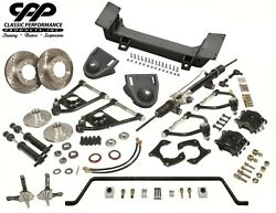 1937-48 Chevy Fleetline Stylemaster Mustang Ii Ifs Conversion Kit Stock Spindles