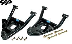 1964-72 Chevy Chevelle El Camino Cpp Black Lower Tubular Control Arms Usa Made