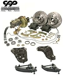 1958 64 Chevy Belair Stock Spindle Disc Brake Kit With Stock Type Control Arms