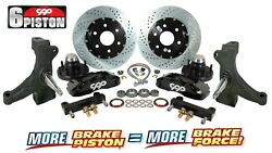 60 62 Chevy C10 Truck 6 Piston Front Drop Spindle Big Disc Brake Kit 6 Lug