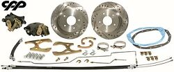 1968-72 Buick Olds Pontiac A Body Rear Disc Brake Conversion Kit Drilled Rotors