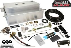 1955-59 Chevy Gmc Truck Fuel Injection Efi Aluminum Gas Tank Kit Bed Fill 30ohm