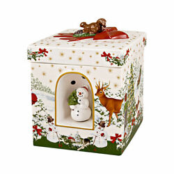 Villeroy And Boch Christmas Toys Square Snowman Large Gift/music Box 6645