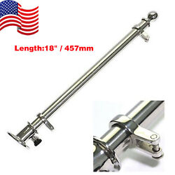 New 18 Boat Deck Flag Pole With Socket Base Marine 316 Stainless Steel Hardware