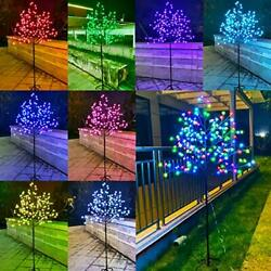 168 Led Cherry Blossom Tree Light Color Changing 6ft Christmas Tree Lighted