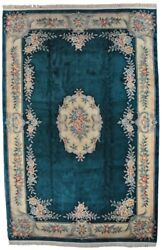 Chinese Aubusson Dragon Rug Hand Knotted 3d Hand Carved Thick 90l Pile 12x18