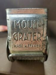 Vintage Mouli Metal Drum Cheese Grater With Hand Crank Made In France