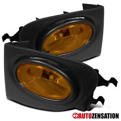 Fit 02-05 Honda Civic Si Ep3 3dr Yellow Bumper Fog Lights W/ Switch Wiring