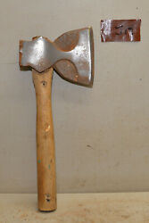 Big Bench Axe Phantom Bevel Collectible Early Carpenters Woodworking Tool J14