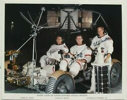 Apollo 15 Crew Signed Nasa Lithograph Dave Scott James Irwin And Alfred Worden
