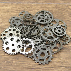 Metal Bronze Gold Silver 20pcs Mechanical Steampunk Cogs And Gears Charm Jewelry