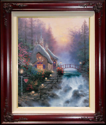Thomas Kinkade Sweetheart Cottage Ii S/n 16x20 Oil On Canvas Limited Edition
