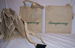 New Lot Of 2 Tanqueray Reusable 6 Bottle Carry Tote Bags Be Eco Friendly