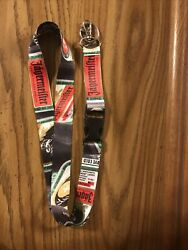 Jagermeister Lanyard W/ Detachable Clip And Keychain Ring Id Badge Holder
