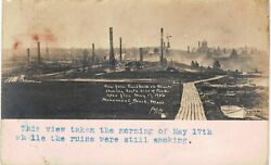 Monument Beach Rppc Ruins Of Fire 5/17/1917 From Boardwalk 1910 Real Photo Ma
