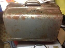 Old Antique Vintage Craftsman Line 6-1/2 Electric Saw+heavy Metal Box Rare Tool
