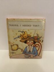 Mary Engelbreit Miniature Teleflora Book Thanks I Needed That. Sealed A4