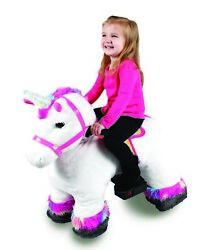 Unicorn Ride On Toy With Stable Electric Light Up Horn Willow The Plush Unicorn