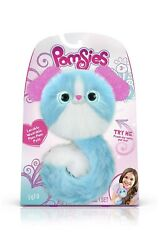 Pomsies Lulu The Puppy Plush Wearable Interactive Toy White Blue Dog New