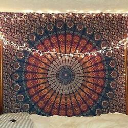 Indian Tapestry Wall Hanging Mandala Tapestry Bedspread Hippie Bohemian Tapestry