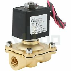 3/8 Brass Electric Solenoid Valve Dc 12v For Water Air Gas Fuel Viton