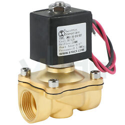 3/4 Inch Electric Brass Solenoid Valve Dc 12v For Water Gas Fuel Viton