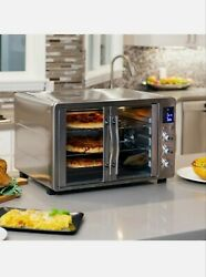 1800w Countertop Turbo Convection Toaster Oven French Doors Digital Display 55l
