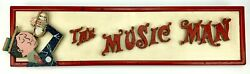 Meredith Wilson Hand-painted Wooden Marquee Sign For The Music Man Musical