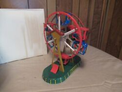 Vintage Tin Wind Up Toy Ferris Wheel Ms 239 Circus Carnival Ride
