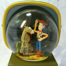 Disney Snowglobe Toy Story2 Woody And Bullseye Vintage Snowdome In The Tv 962/ak