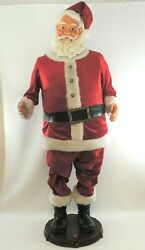 Gemmy Life Size 5 Ft Animated Singing And Dancing Santa Claus Pick Up Only
