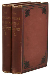 The Descent Of Man Charles Darwin First American Edition Set 1st 1871 2 Vols