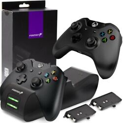 Fosmon Dual Controller Charger Compatible With Xbox One/one X/one S Elite