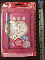 Sanrio Hello Kitty Me And My Diary Journal Notebook Pencil Stickers Card Set 2004