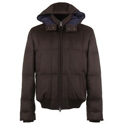 Cesare Attolini Down-filled Hooded Cashmere Puffer Jacket M Eu 50 Nwt 6450