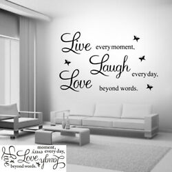 Wall Stickers Art Room Removable Decals Love Family Live Home Quote Laugh DIY