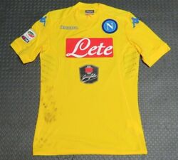 2015-16 Pepe Reina Napoli Match Used Worn Serie A Soccer Shirt Game Jersey