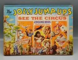 1944 Vintage Jolly Jump Ups Childrens Book Pop Up Action Book See The Circus