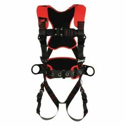 3m Protecta 1161222 Full Body Harness, Vest Style, Xl, Polyester, Black