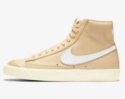 Nike Wmns Blazer Mid And03977 Cz1055-700 Butter Canvas White