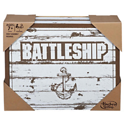 Battleship Board Game Rustic Edition Series Hasbro Parker Brothers Wooden Box