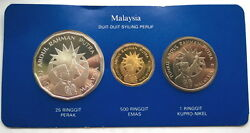 Malaysia 1982 Independence Box Set Of Gold And Silver Coins,proof,rare