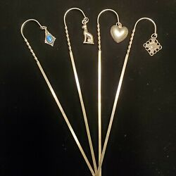 Whimsical Sterling Silver Coffee-cocktail Stir Sticks