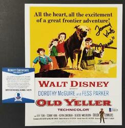 Tommy Kirk Signed Disney's Old Yeller 8x10 Movie Poster Travos Auto Bas Coa