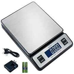 Weighmax W-2809 90 Lb X 0.1 Oz Durable Stainless Steel Digital Postal Scale, Ac