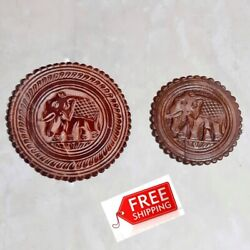 Table Leather Mat Glass Holder Beer Coaster Placemats Water Proof Cup Mug Round