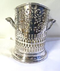 .beautiful Antique 1919 Walker And Hall Sheffield A1 Epns Decorative Wine Holder