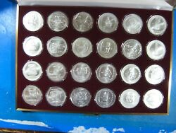 Mexico Ancient Empire 1 Oz .999 Complete Set Of 24 Coins In Box + Certification