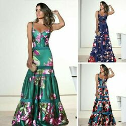 Womenand039s Elegant Clothing Spot Sexy Sling Printing Bodycon Evening Party Dress