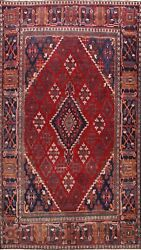 Antique Geometric Joshaghan Hand-knotted Area Rug Tribal Oriental Carpet 7and039x11and039